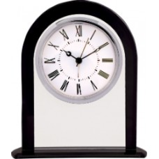 Clear Glass Clock with Black Border